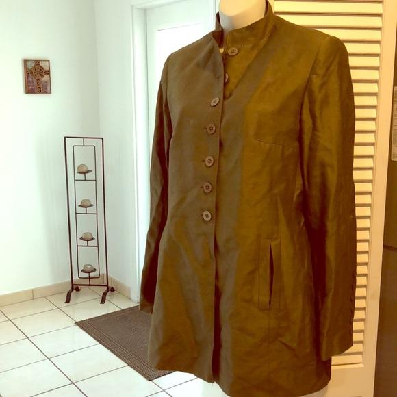 Zara Jackets Coats Linen Dark Green Vintage Suit Jacket Poshmark